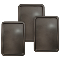 Entenmann's ENT49011 Non-Stick Cookie Sheet Set, 8 in W x 13 in L x 19 in H, Carbonized Steel