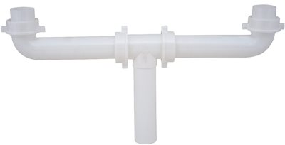 DURAPRO� CENTER OUTLET WASTE, 1-1/2 IN. X 16 IN. PVC