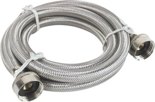 "WASHING MACHINE HOSE 72"" STAINLESS STEEL"