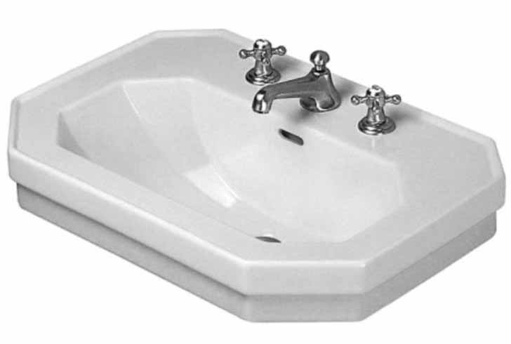 24 X 16 One Hole Pedestal Lavatory Only 1930 White