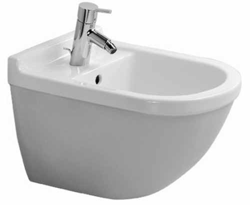 One Hole Ceramic Wall Mount Bidet *STARCK 3 White