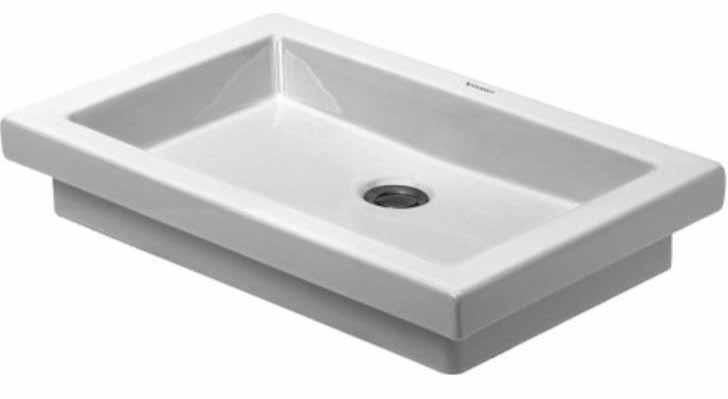 22-7/8 0 Hole Ceramic OC Basin White