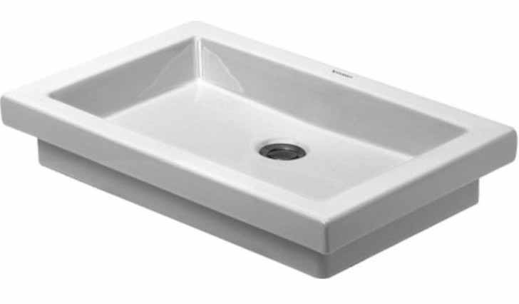 27-7/8 0 Hole Ceramic Drop In Basin White