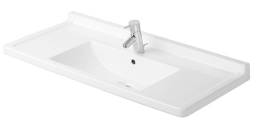 41X19 One Hole Countertop Lavatory *STARCK 3 White