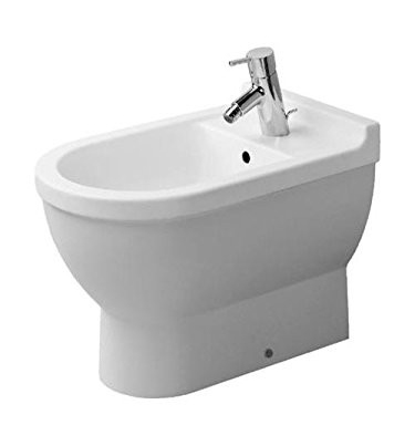 One Hole Ceramic Floor STANDING BIDET White