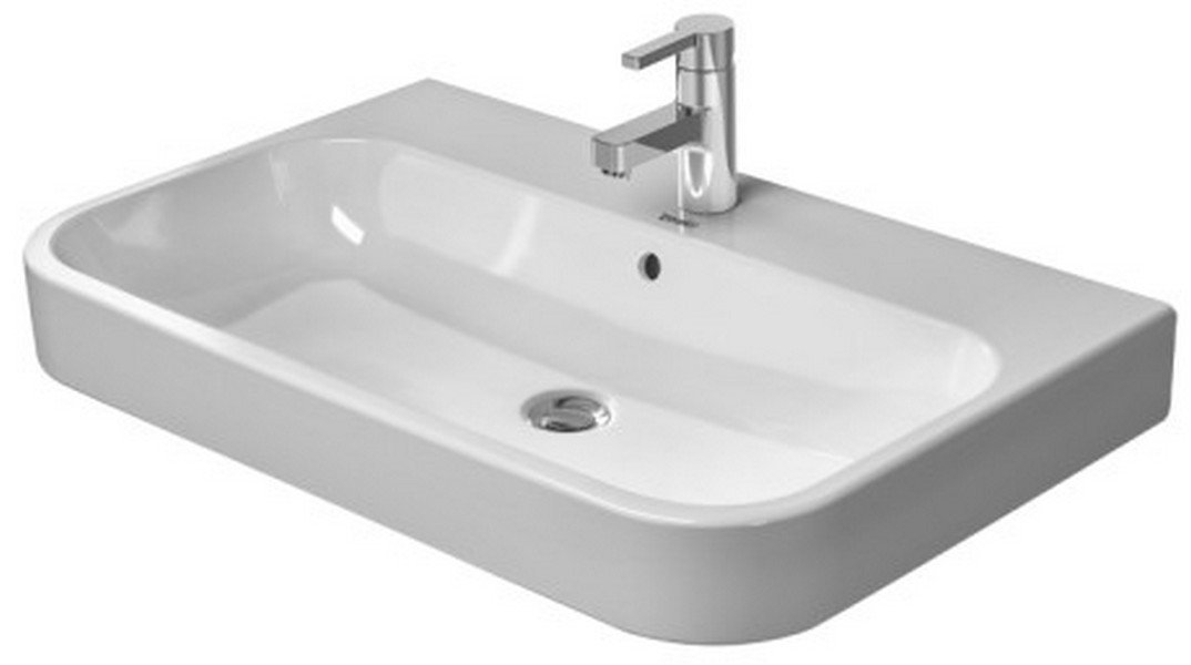 25-5/8 One Hole Ceramic Wall Mount Vanity Basin White
