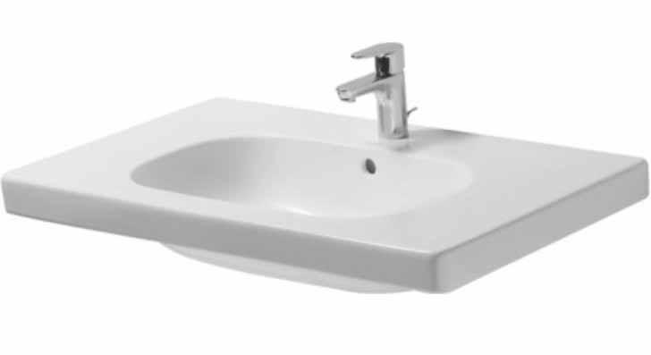 33-1/2 One Hole Ceramic Vanity Basin White