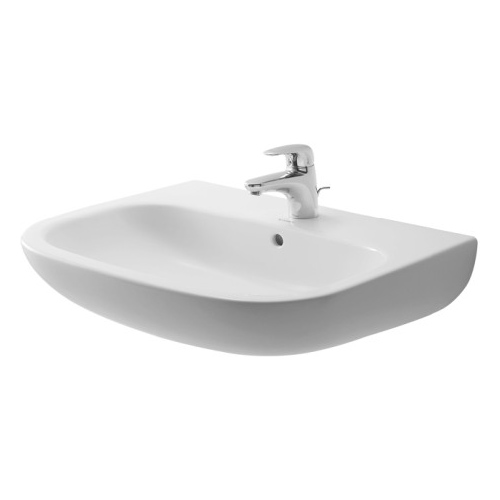 25-3/8 One Hole Ceramic Basin White