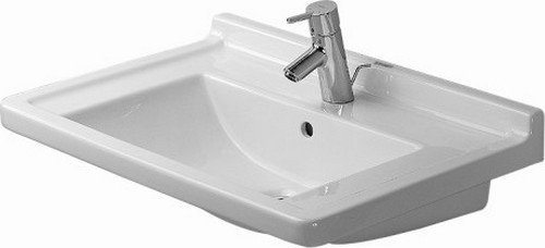 27-1/2 One Hole Ceramic Vanity Basin White