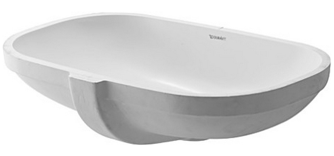 Undercounter Lavatory Sink D-code White