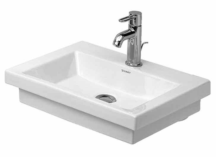 19-5/8 One Hole Ceramic H/RINS BASIN White