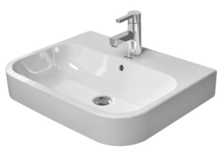 23-5/8 One Hole Single Band Deck Mount Vitreous China SINK White
