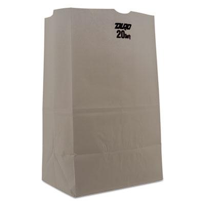 #20 Squat Paper Grocery Bag, 40lb White, Std 8 1/4 x 5 15/16 x 13 3/8, 500 bags