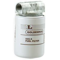 Goldenrod 595 Spin-On Fuel Filter, 3-3/4 in Dia x 7-1/2 in L x 4 in W, 10 u