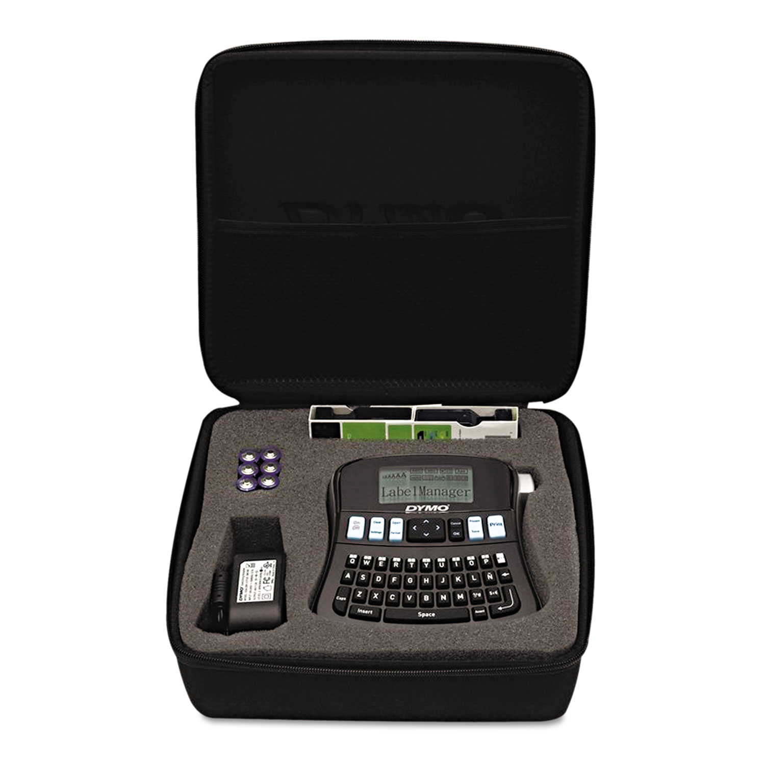 LabelManager 210D Kit, 2 Lines, 6 1/10w x 6 1/2d x 2 1/2h