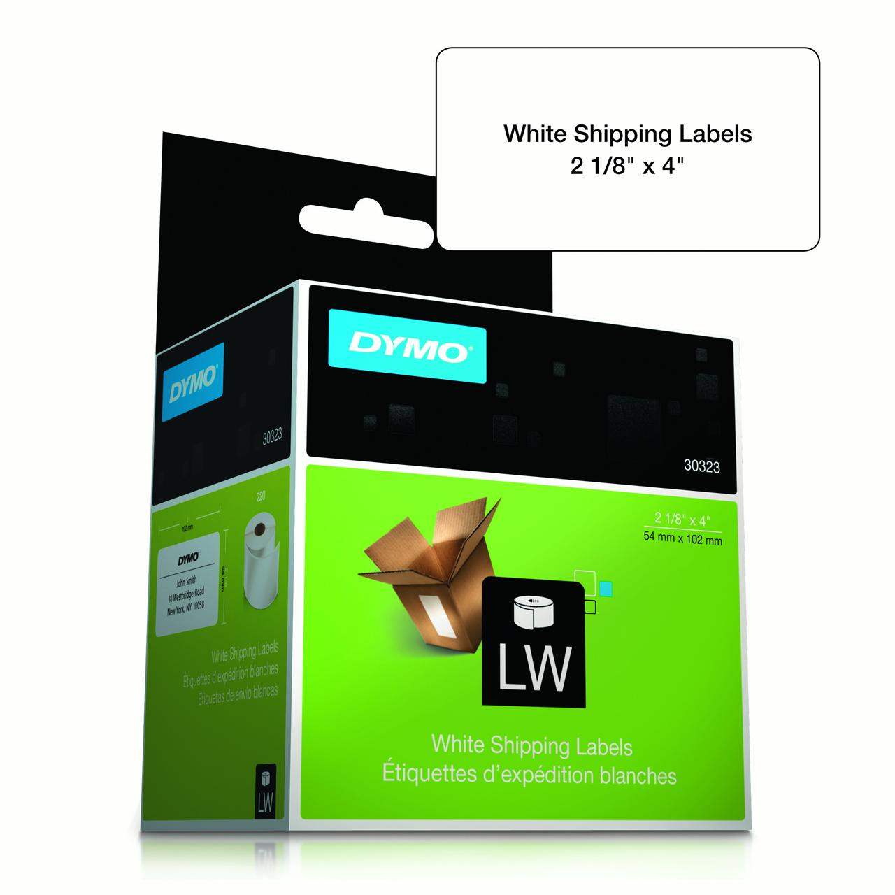 LabelWriter Shipping Labels, 2 1/8 x 4, White, 220 Labels/Roll