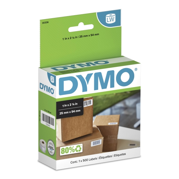 LabelWriter Multipurpose Labels, 1 x 2 1/8, White, 500 Labels/Roll