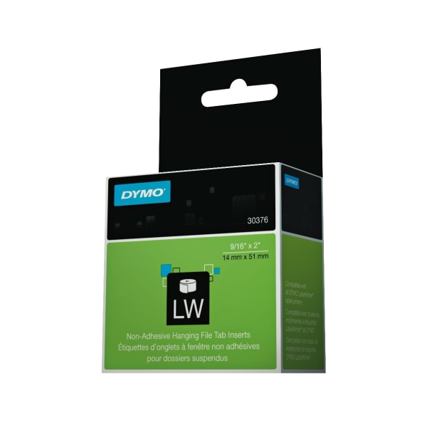 LabelWriter Hanging File Folder Tab Inserts, 9/16 x 2, White, 260 Labels/Roll