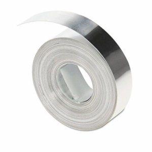 """Rhino Metal Label Non-Adhesive Tape, 1/2"""" x 16 ft., Aluminum"""