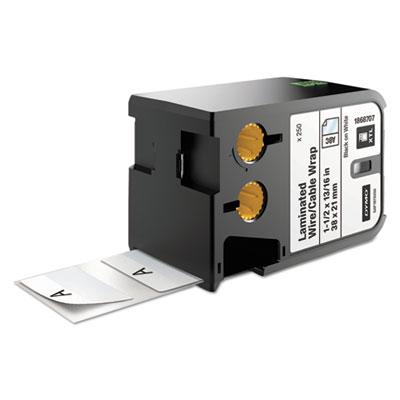 """XTL Pre-Sized Labels, 1.5"""" x 0.81"""", White/Black Print, 250/Cartridge"""
