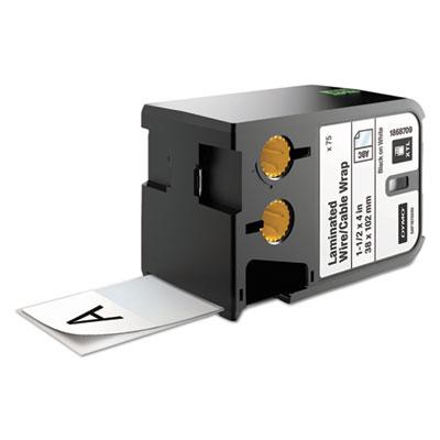"""XTL Pre-Sized Labels, 1.5"""" x 4"""", White/Black Print, 75/Cartridge"""