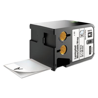 """XTL Pre-Sized Labels, 2"""" x 1.57"""", White/Black Print, 100/Cartridge"""