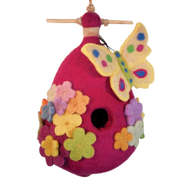 Butterfly Felt Bird House