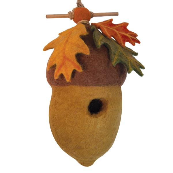 Pin Oak Acorn Felt Bird House