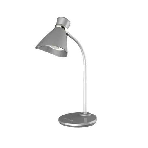 6W Desk Lamp, Silver Finish