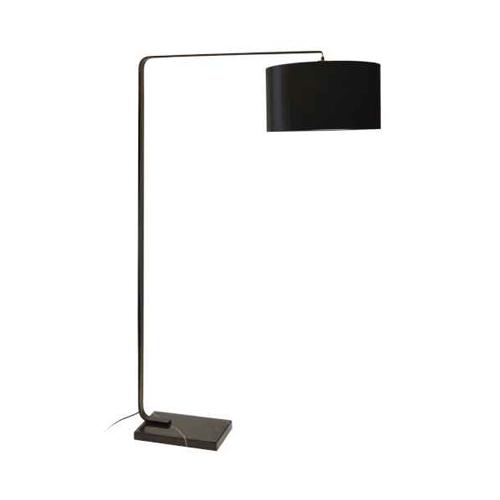 1LT Incandescent Floor Lamp, Black Finish