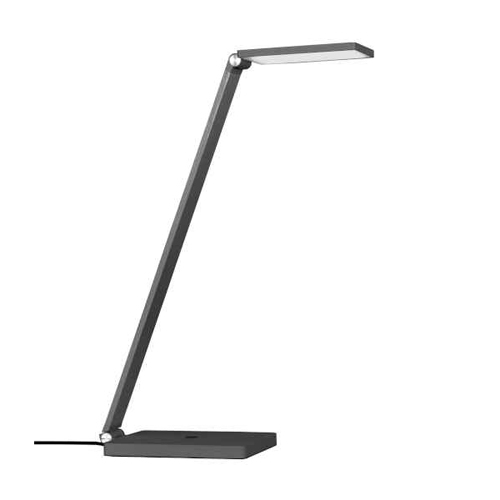 8W Adjustable Table Lamp, Gunmetal Finish