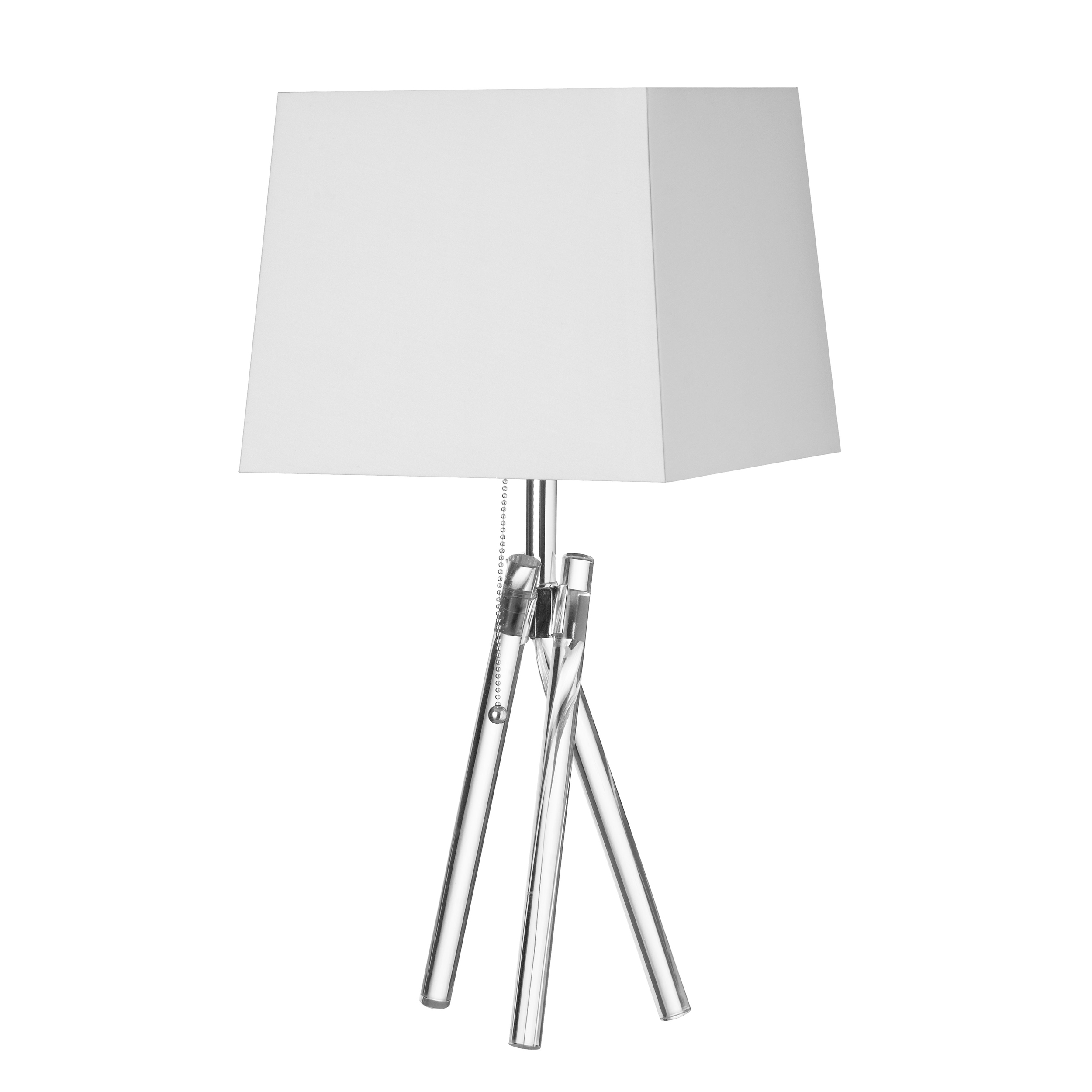 1LT Incandescent Table Lamp w/ Acrylic Legs, PC
