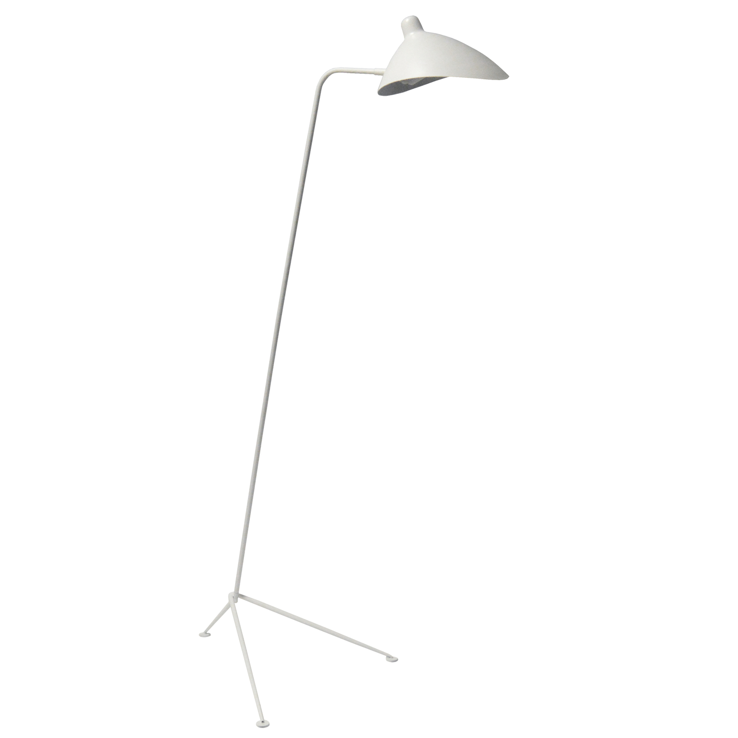 1LT Incandescent Floor Lamp, Matte White