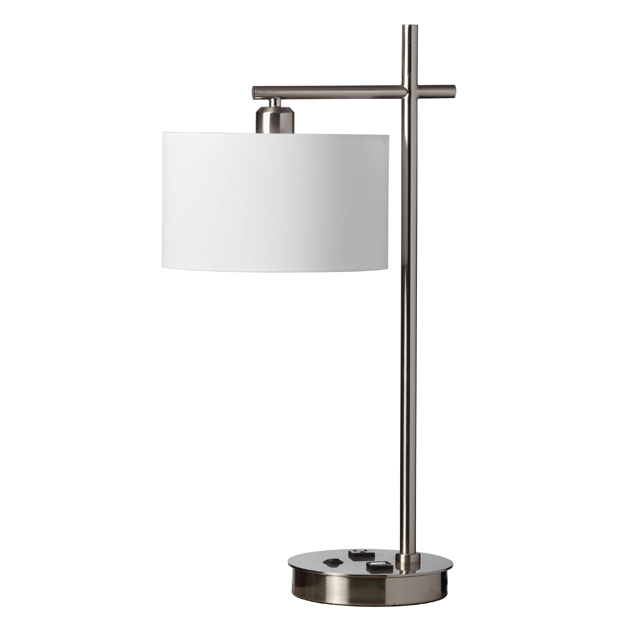 1 Light Table Lamp, Satin Chrome