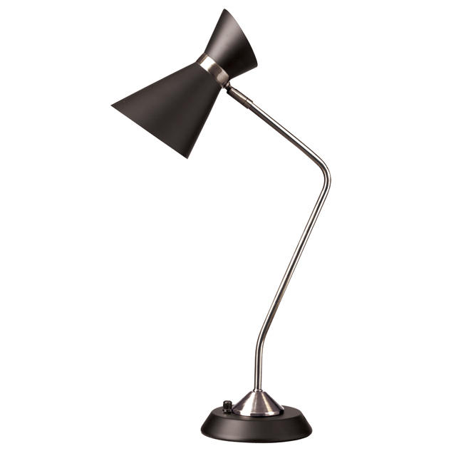 1 Light Table Lamp w/ Black Shade, PC