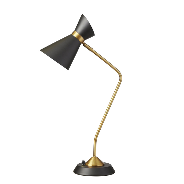 1 Light Table Lamp w/ Black Shade, VB