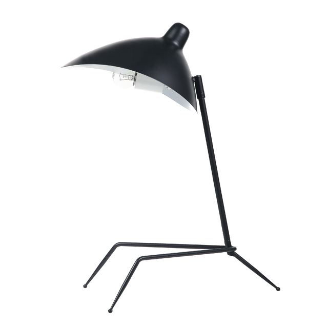 1 Light Table Lamp, Matte Black