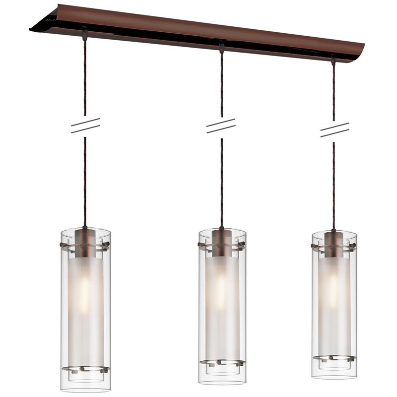 (K)3 Light Horizontal Pendant Clr/Frst
