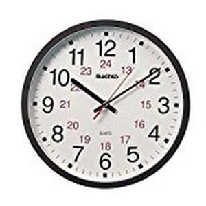 """Magnus -12"""" Office Clock 12/24"""