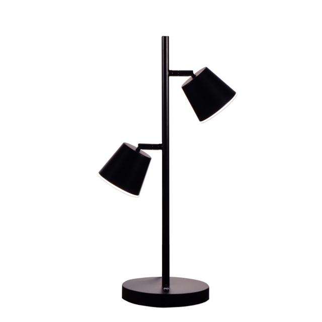2 Light LED Table Lamp, BK