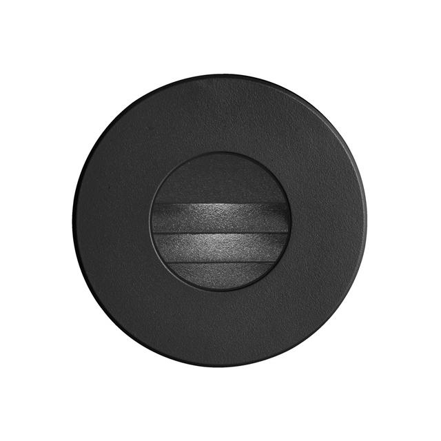 (K)Black Round In/Outdoor 3W LED Wall Li