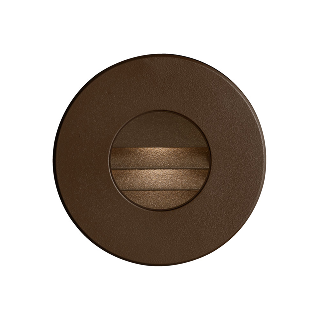 (K)Bronze Round In/Outdoor 3W LED Wall Light