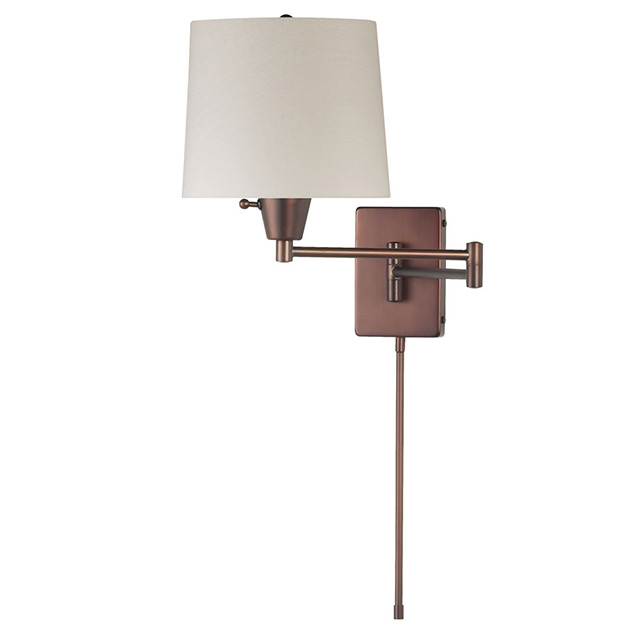 (K)Swing Arm Wall Lamp OBB Cream Shade