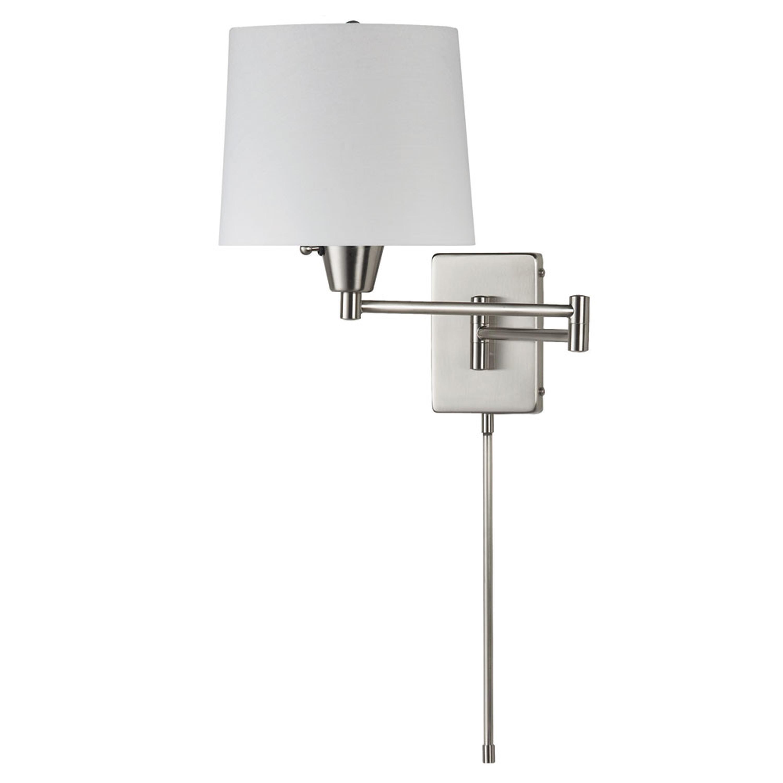 (K)Swing Arm Wall Lamp White Shade
