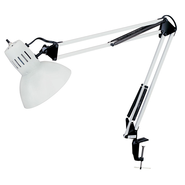 Clamp-On Task Lamp, Gloss White