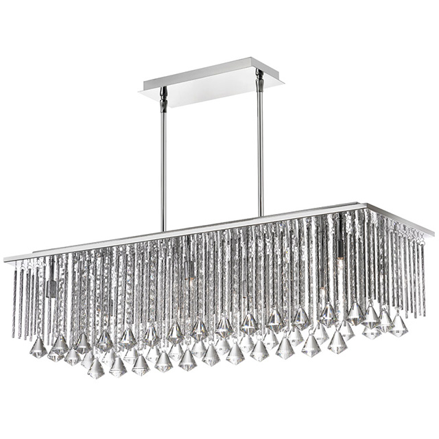 10LT Crystal Horizontal Chandelier