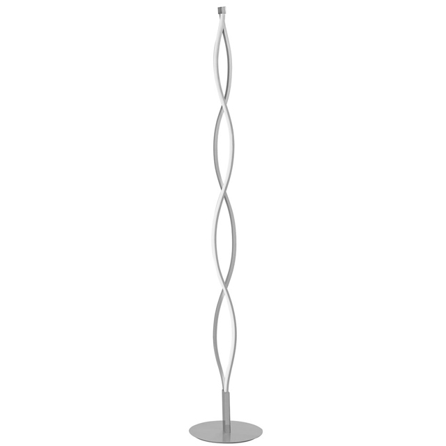 21W Wave LED Floor Lamp, SV/PC