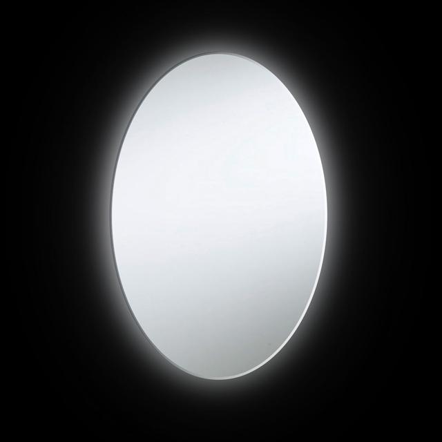 17W Oval Mirror, Backlit 28x23 Inch