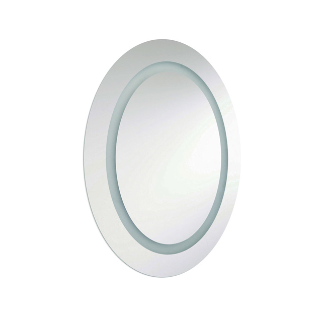 28W Oval Mirror, Inside Illuminated 28x23 Inch