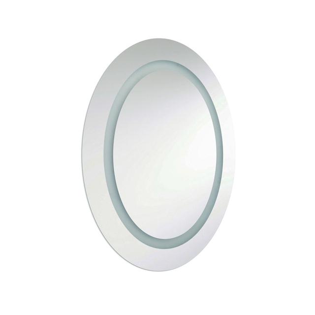 28W Oval Mirror, Inside Illuminated 28x23 Inch